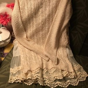 Altar'd State Lacy Girly Sweater Sm/Med new